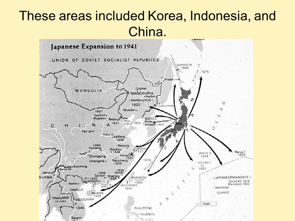 These areas included Korea, Indonesia, and China.