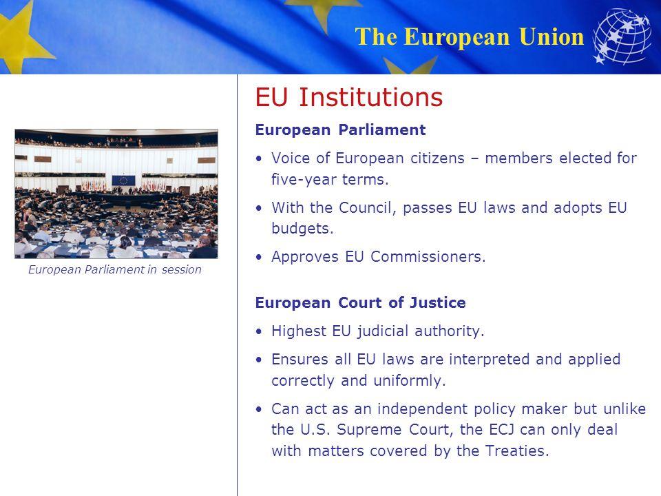 European Parliament in session