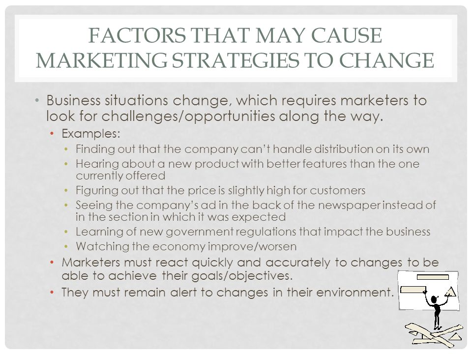 factors that may cause marketing strategies to change