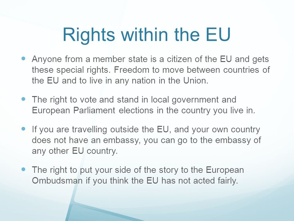 Rights within the EU