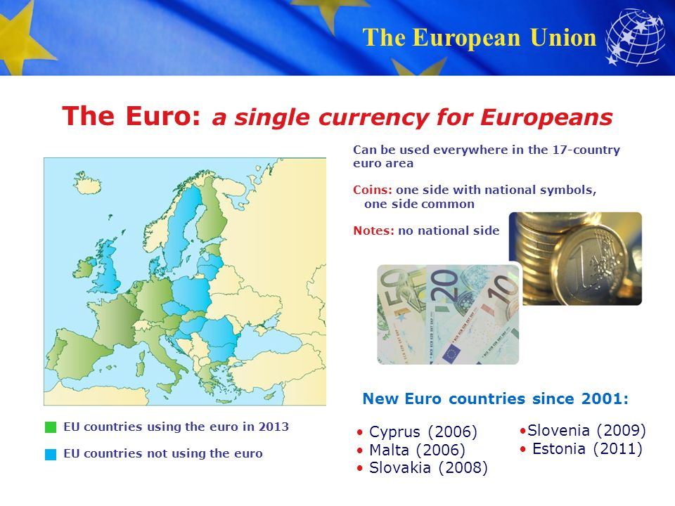The Euro: a single currency for Europeans