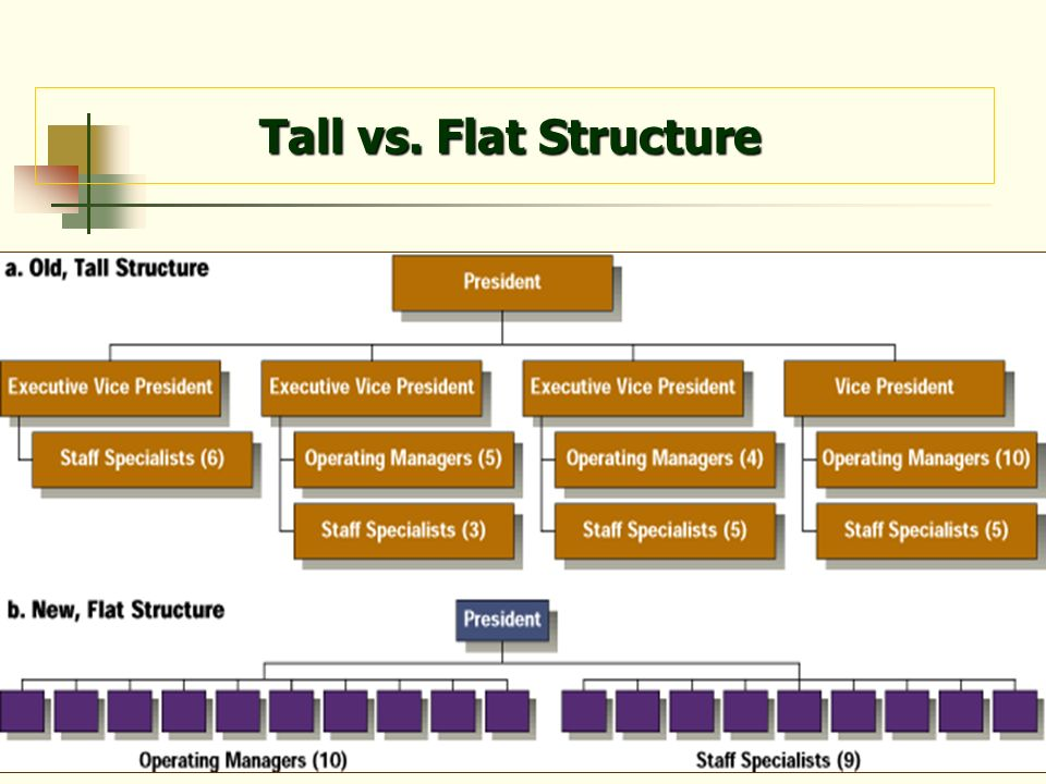 Tall vs. Flat Structure