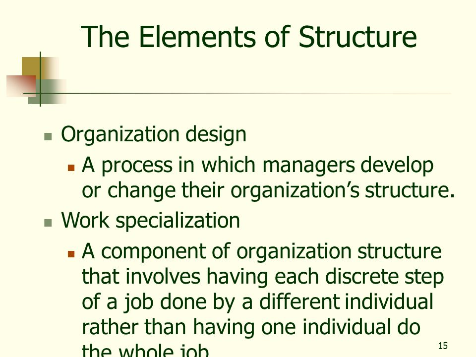 The Elements of Structure