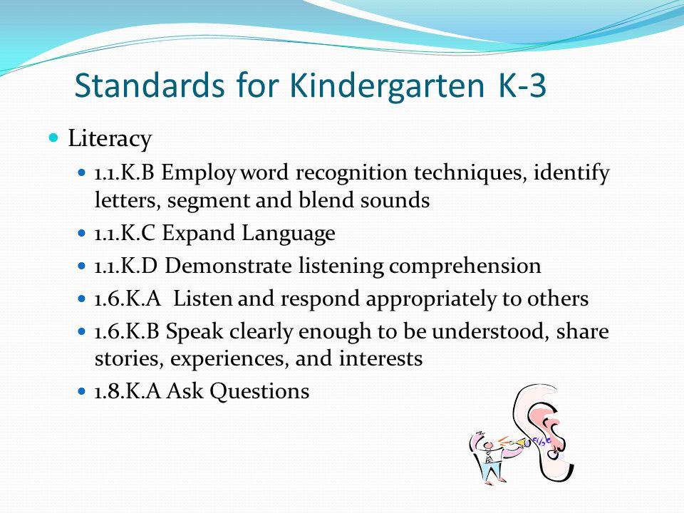 Standards for Kindergarten K-3