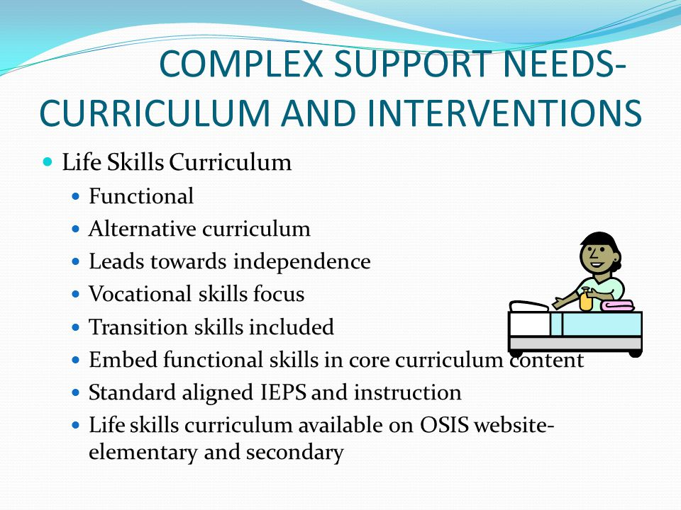 COMPLEX SUPPORT NEEDS- CURRICULUM AND INTERVENTIONS