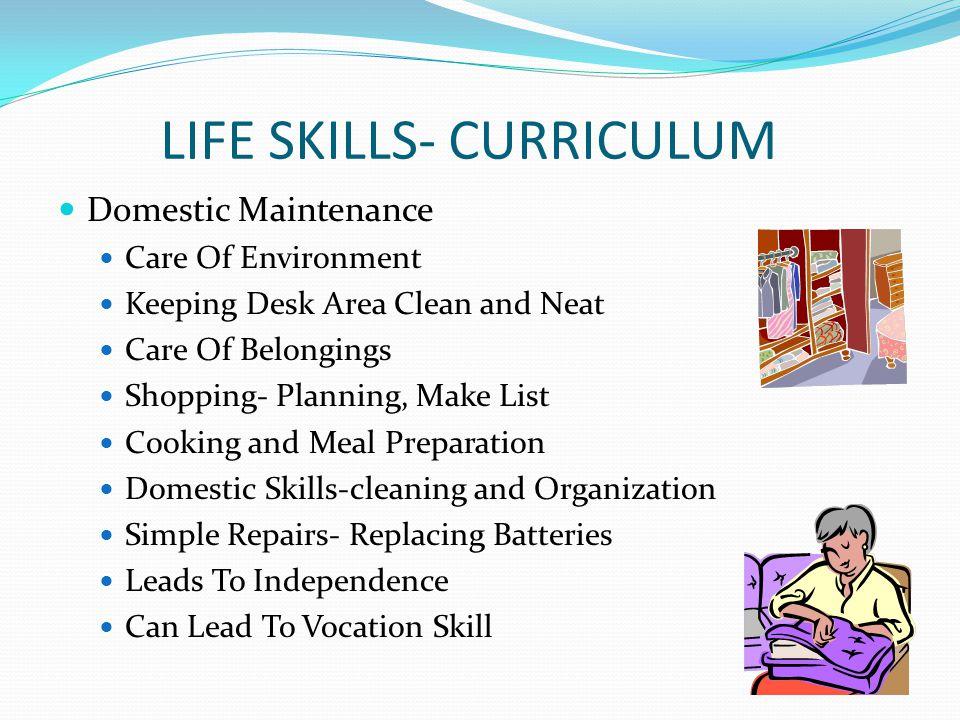 LIFE SKILLS- CURRICULUM