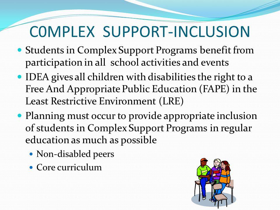 C0MPLEX SUPPORT-INCLUSION
