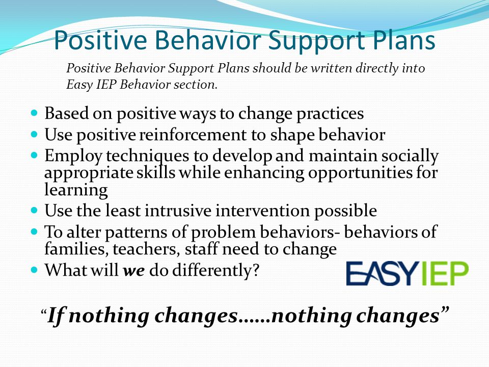 How Does Classroom Design And Organization Support Learning And Positive Behavior ~ Writing ieps for entry level students from early