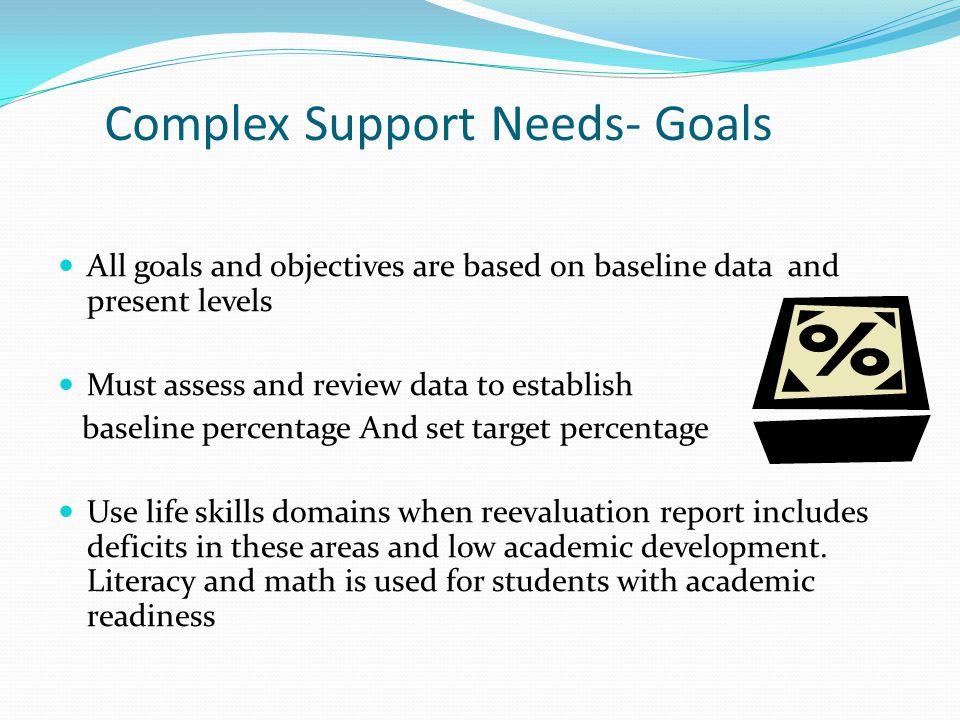 Complex Support Needs- Goals