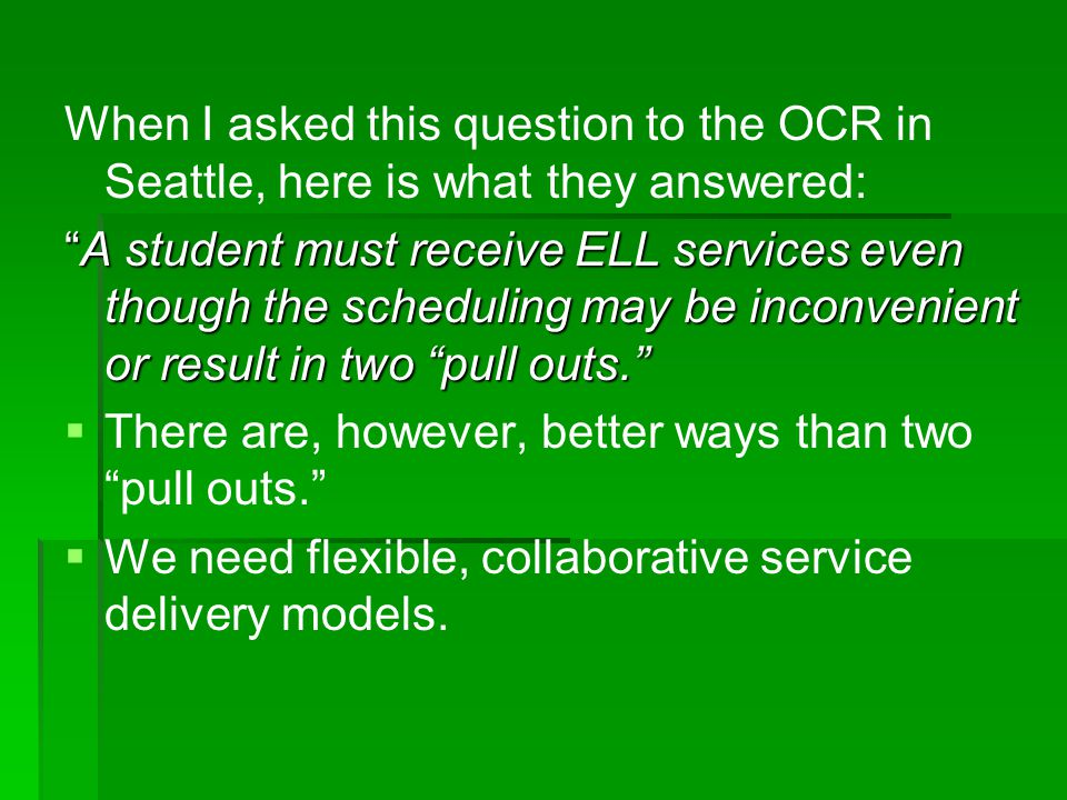 When I asked this question to the OCR in Seattle, here is what they answered: