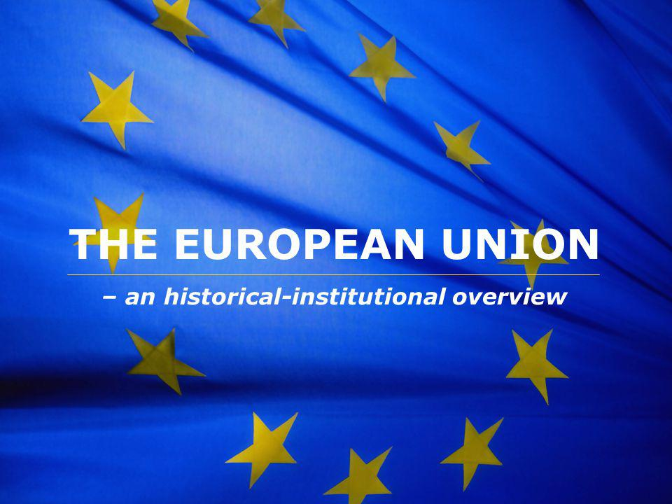 – an historical-institutional overview