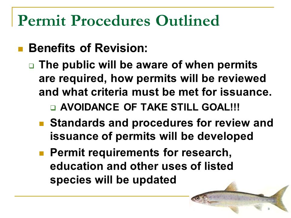 Permit Procedures Outlined