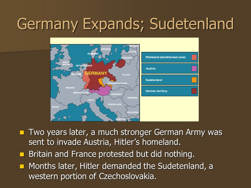 Germany Expands; Sudetenland