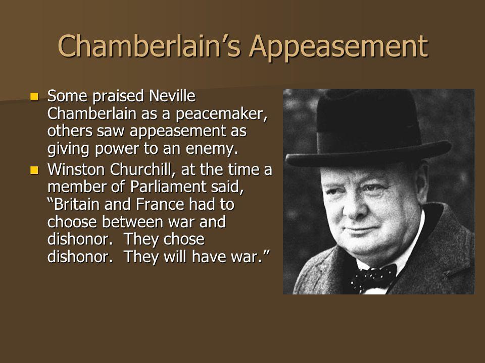 Chamberlain's Appeasement