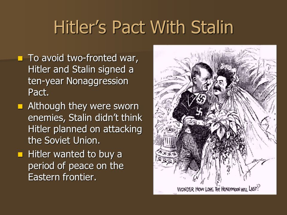 Hitler's Pact With Stalin