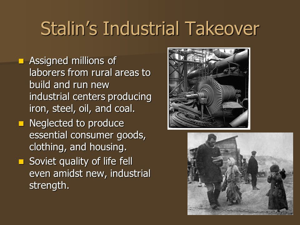 Stalin's Industrial Takeover