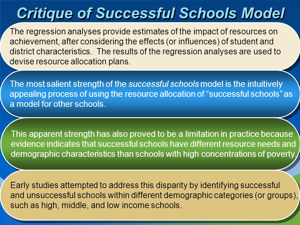 Critique of Successful Schools Model
