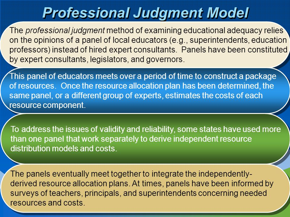 Professional Judgment Model