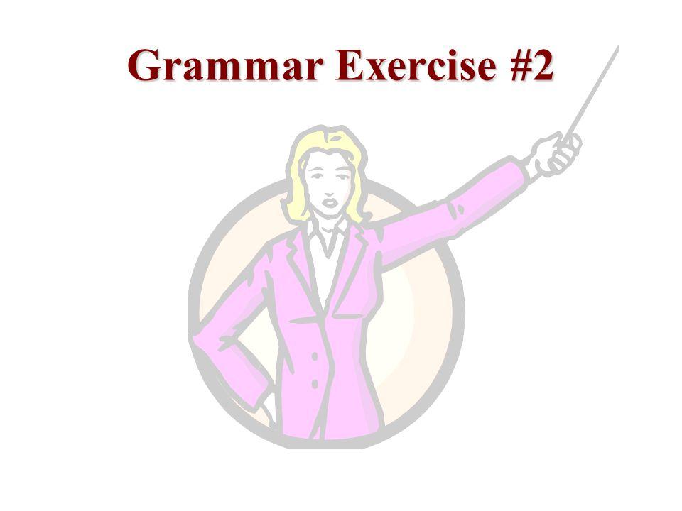 Grammar Exercise #2
