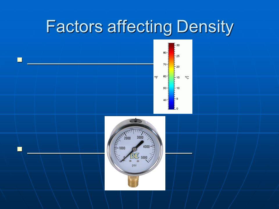 Factors affecting Density