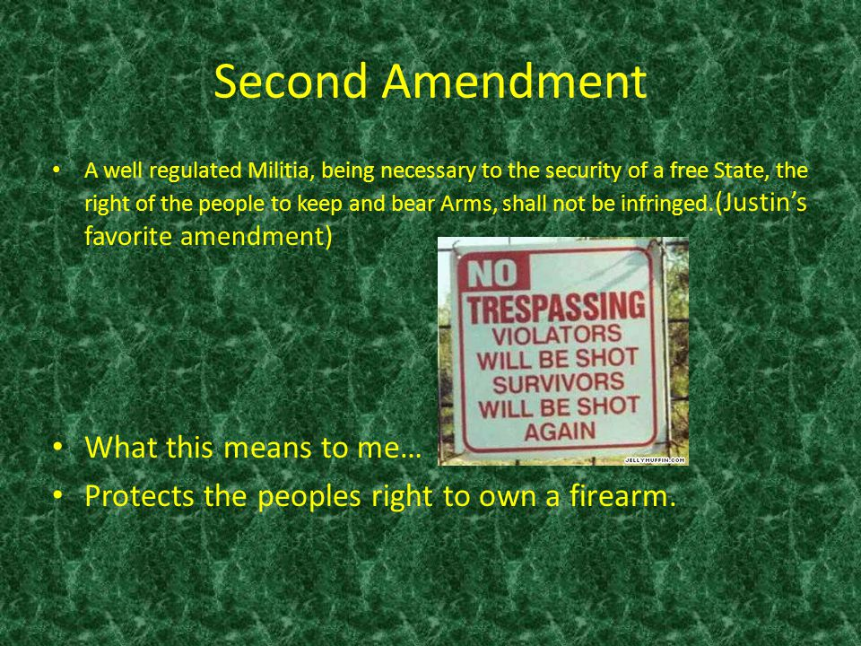 Second Amendment What this means to me…
