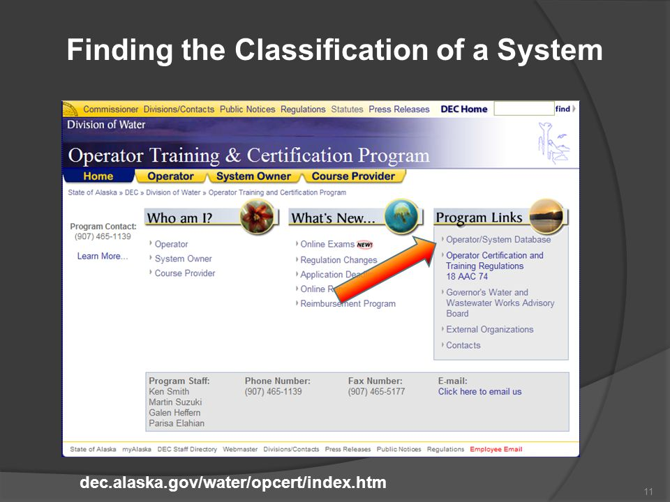 Finding the Classification of a System