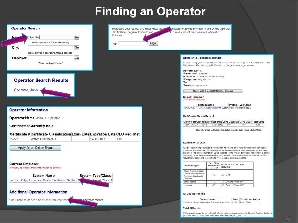 Finding an Operator