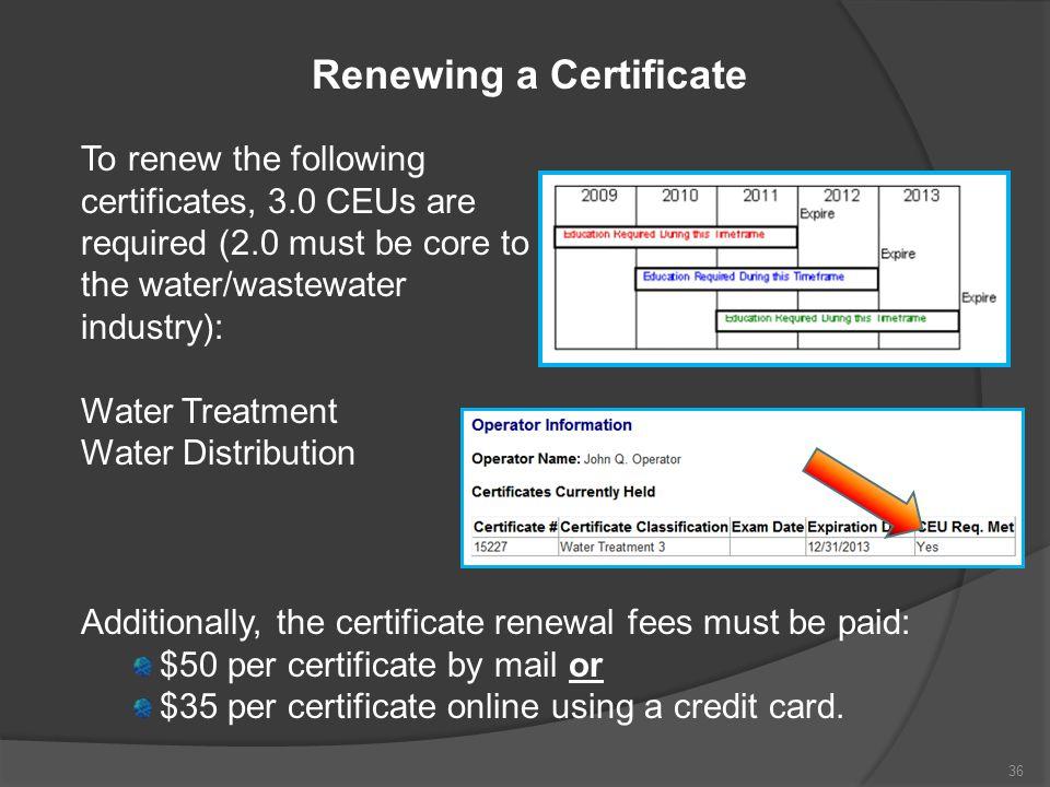 Renewing a Certificate
