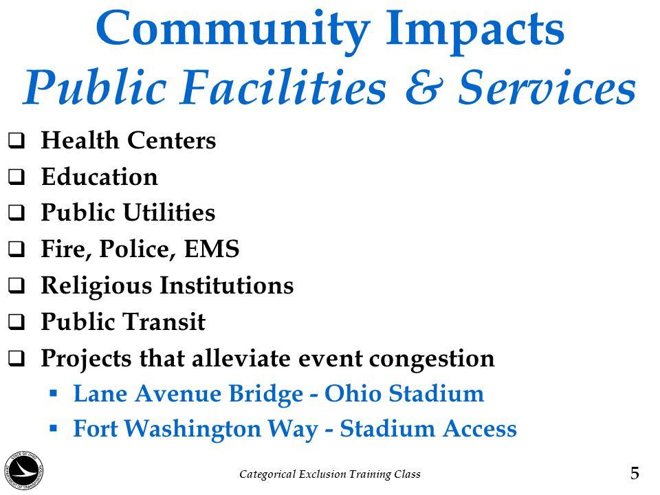Community Impacts Public Facilities & Services