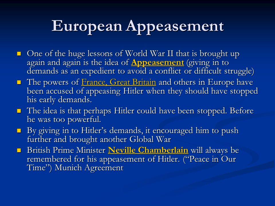 European Appeasement