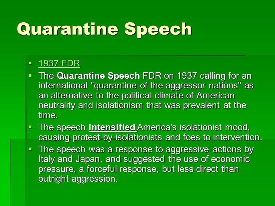 Quarantine Speech 1937 FDR.