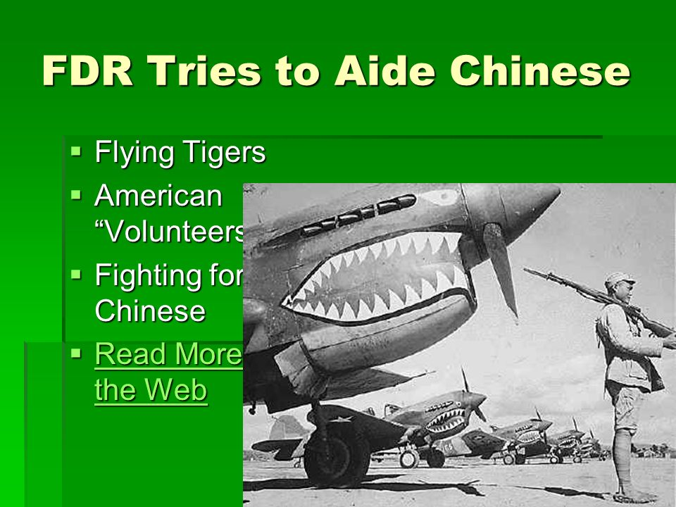 FDR Tries to Aide Chinese
