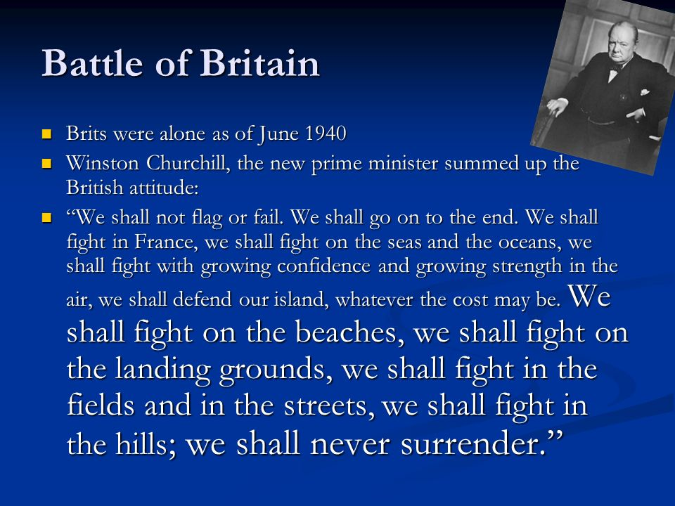 Battle of Britain Brits were alone as of June 1940