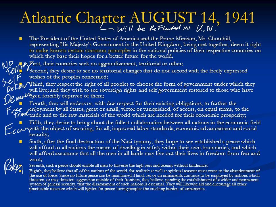 Atlantic Charter AUGUST 14, 1941