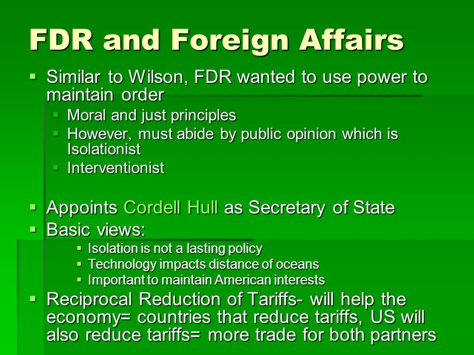 FDR and Foreign Affairs
