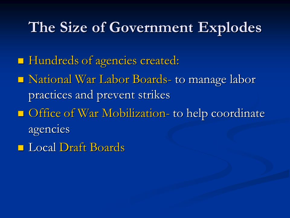 The Size of Government Explodes