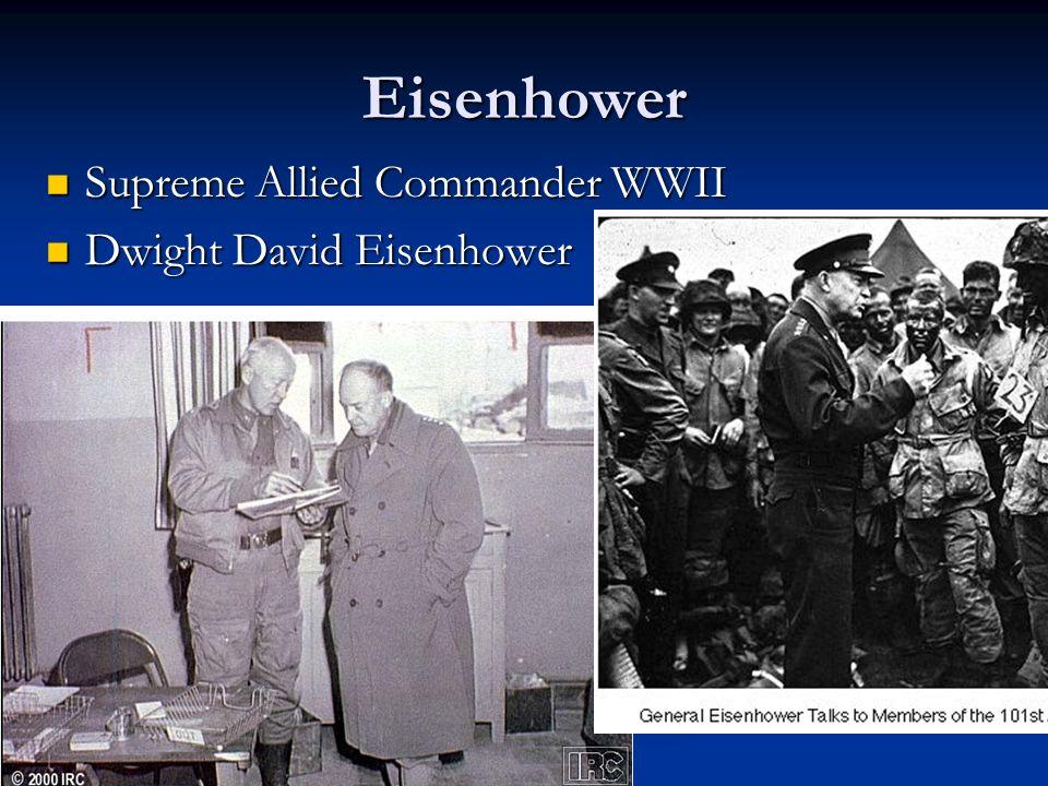 Eisenhower Supreme Allied Commander WWII Dwight David Eisenhower