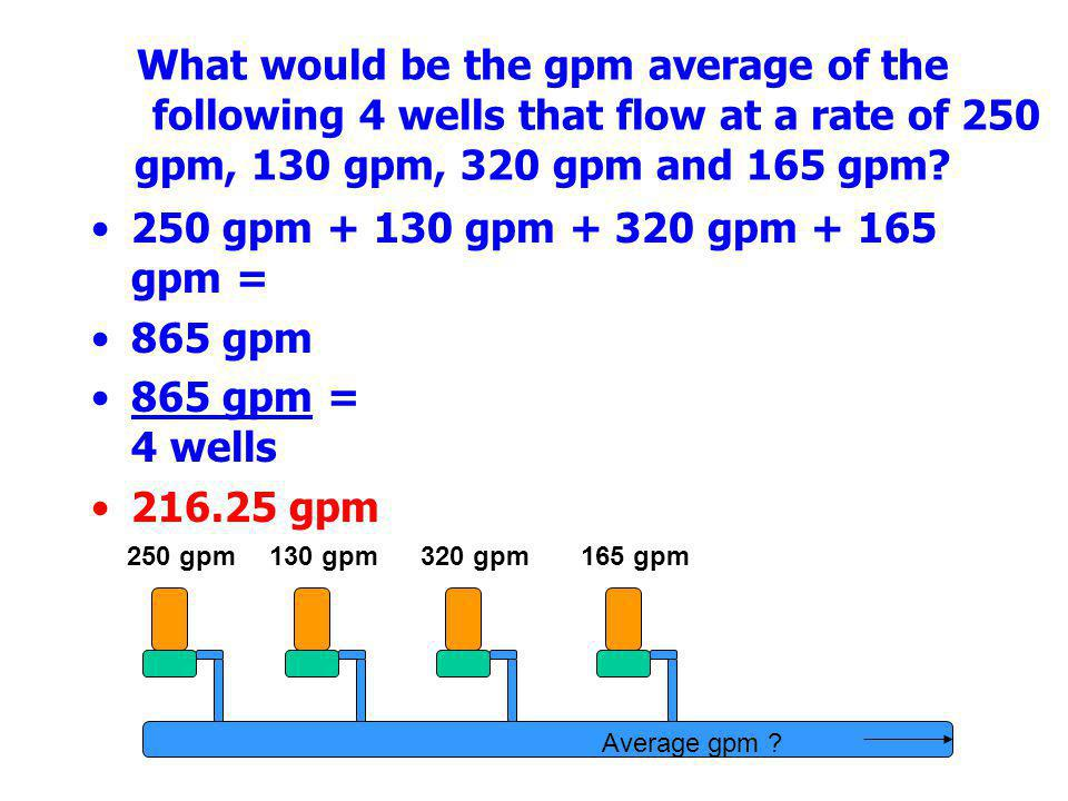What would be the gpm average of the