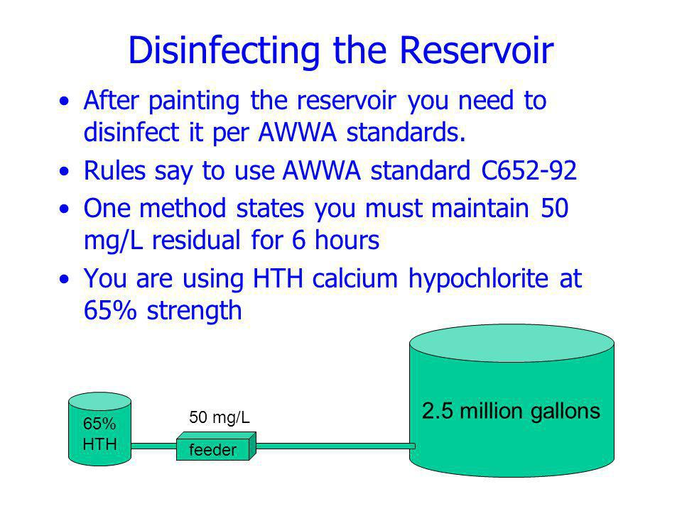 Disinfecting the Reservoir