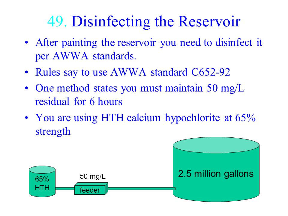49. Disinfecting the Reservoir