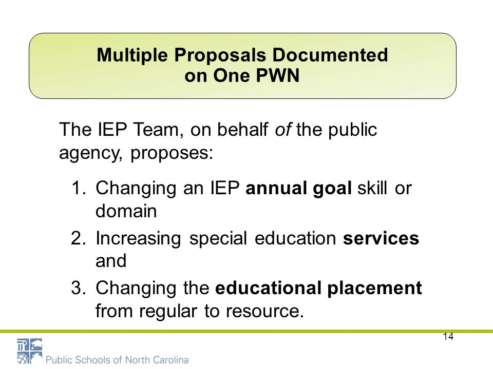 Multiple Proposals Documented