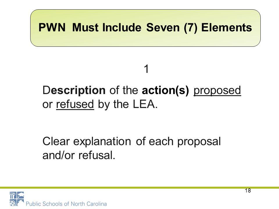 PWN Must Include Seven (7) Elements
