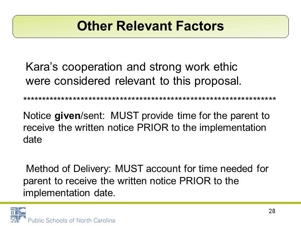 Other Relevant Factors