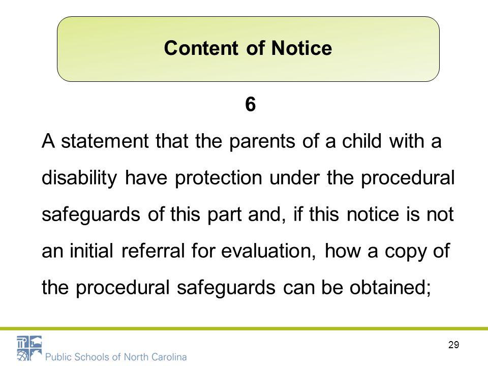Content of Notice