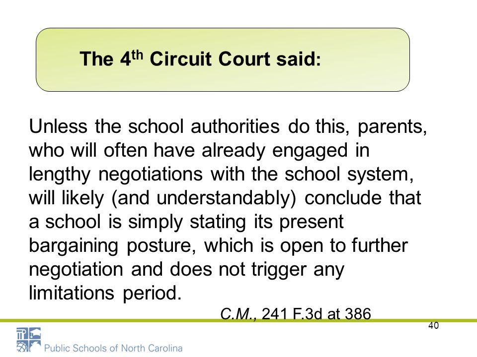 The 4th Circuit Court said: