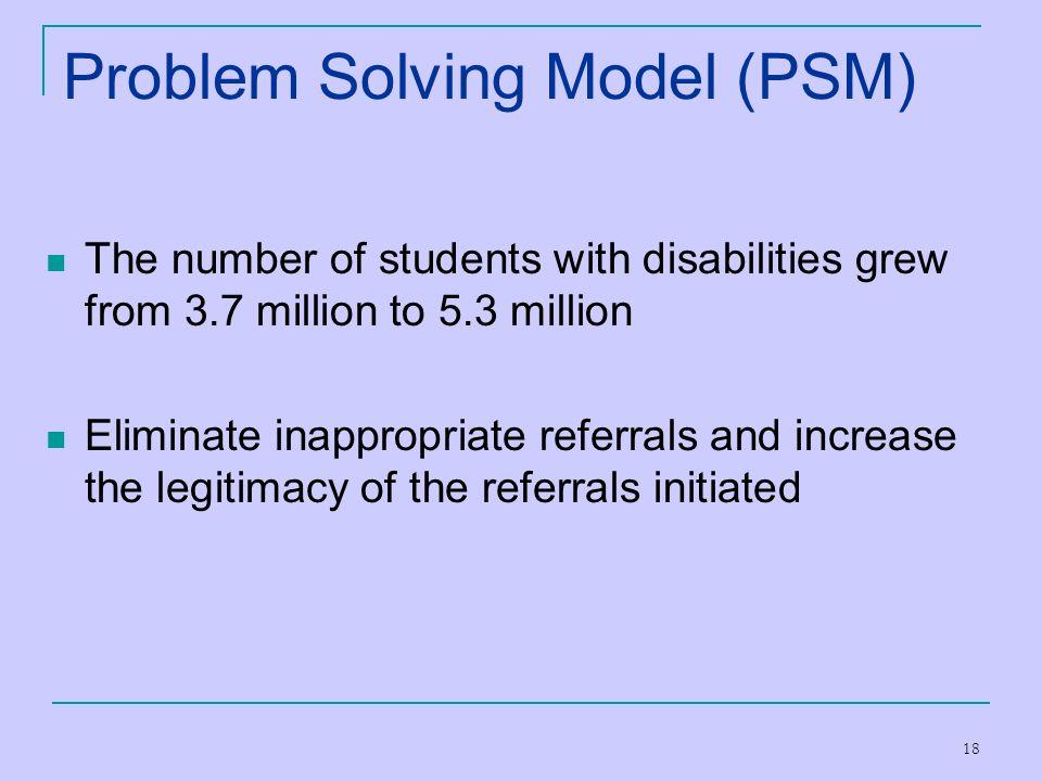 Problem Solving Model (PSM)