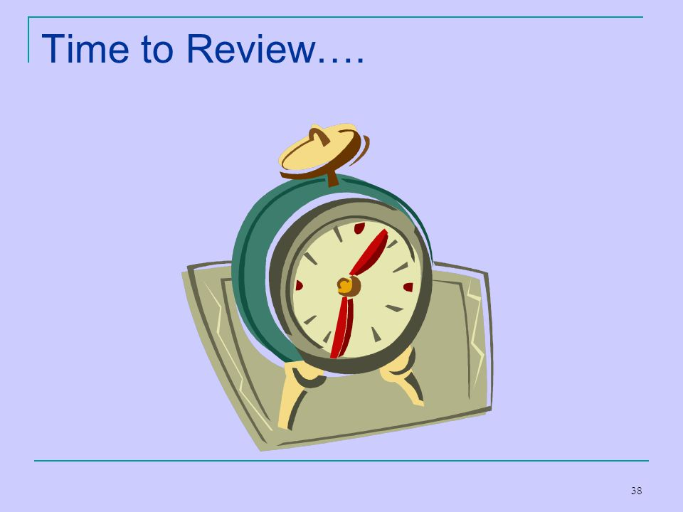 Time to Review….