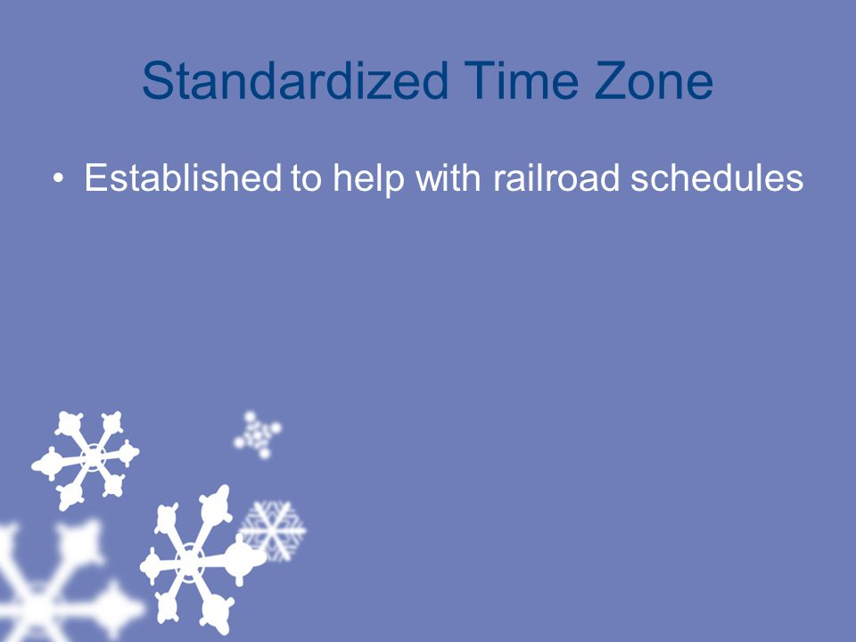 Standardized Time Zone