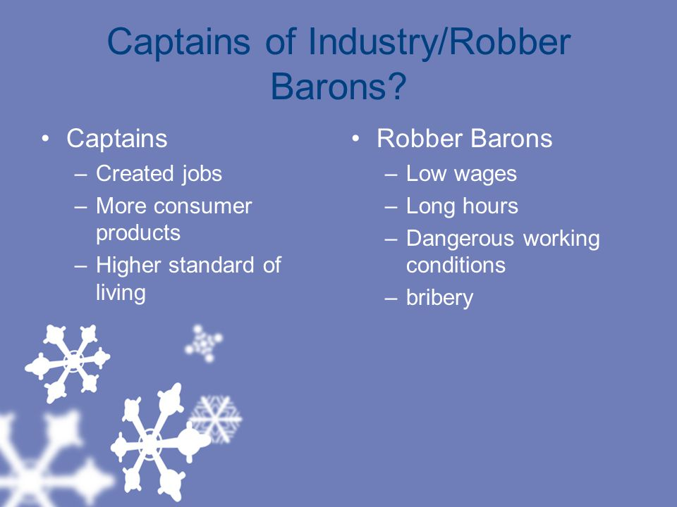 Captains of Industry/Robber Barons