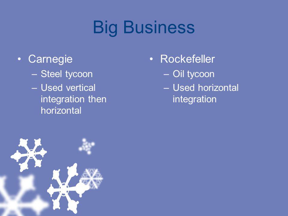 Big Business Carnegie Rockefeller Steel tycoon